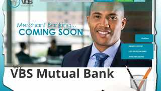 Screengrab of the VBS Mutual Bank website