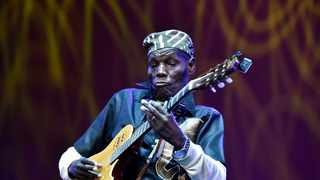 Oliver Mtukudzi during a tribute ceremony for Winnie Madikizela-Mandela at State Theatre in Pretoria. Picture: Bongani Shilulbane/AFRICAN NEWS AGENCY (ANA)