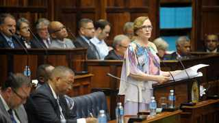 Western Cape Premier Helen Zille delivers her final State of the Province address. Picture: Armand Hough/African News Agency(ANA)