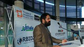 South African BRICS ambassador, professor Anil Sooklal, speaking at a BRICS roundtable at the Richards Bay Industrial Development Zone on Tuesday afternoon. Picture: ANA Reporter