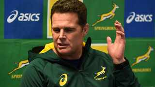 Springbok coach Rassie Erasmus is hoping to continue their upward performance curve. Photo: Phando Jikelo, ANA