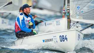 South African sailor Dave Shilton in action. Photo: Jesus Renedo/Sailing Energy/Aarhus 2018
