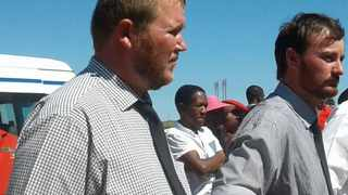 Murder accused Phillip Schutte (left) and Pieter Doorewaard during a previous court appearance. FILE PHOTO: ANA