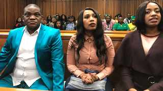 Timothy Omotoso, Lusanda Sulani and Zukiswa Sitho at the Port Elizabeth High Court. Picture: Raahil Sain / African News Agency (ANA)