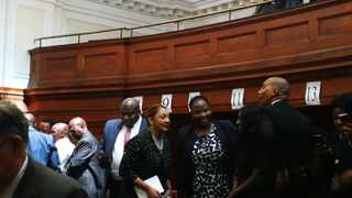 MPs and senior parliamentary staff packed the courtroom in which Afriforum is challenging the adoption of a report by Parliament's constitutional review committee recommending section 25 of the Constitution be amended to explicitly allow for land expropriation without compensation. File photo: Chantall Presence / ANA