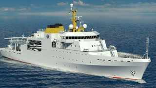 This is what the navy's new hydrographic survey vessel – which will house 120 crew, including scientists - will look like.