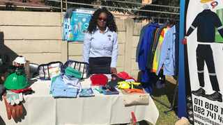 Sithenjiwe Masuku, managing director of T-Legacy Components SA, shows off her products, which include gumboots, conti-suits, gloves, safety boots and reflective vests for mine workers, construction and industrial workers. The entrepreneur hopes her business will benefit from exposure at the week-long inaugural Intra-African Trade Fair (IATF) starting on Tuesday, Cairo, Egypt. Picture supplied: dti