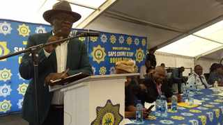 Minister of Police Bheki Cele vows to rid Port Elizabeth northern areas of gangsterim.  Pictures: Supplied by SAPS