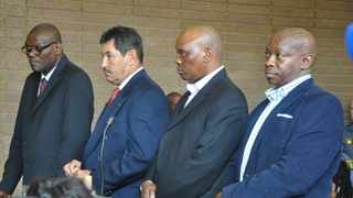 ANA FILE PHOTO -- Former North West deputy provincial commissioner Major General William Mpempe and three other policemen appeared in North West court in 2018 for Marikana shooting incident. Photo: ANA