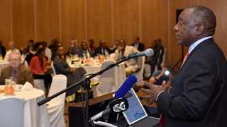 President Cyril Ramaphosa addresses the Team South Africa pre-World Economic Forum breakfast meeting in Rosebank, Johannesburg, on Wednesday morning. TeamSA is preparing a coherent message it will deliver to international investors at the WEF gathering in Davos next week (Pic: The Presidency)