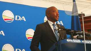 Democratic Alliance leader Mmusi Maimane delivered an alternative state-of-the-nation (Sona) address a day before President Cyril Ramaphosa tabled the actual speech in Parliament. Photo: Chantall Presence / ANA