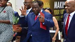 South Africa Finance Minister Tito Mboweni arrives at Parliament for the 2019 Budget speech. PHOTO: GCIS