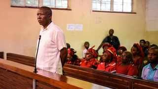 EFF leader Julius Malema at the Newcastle Magistrate's Court. Picture: Supplied