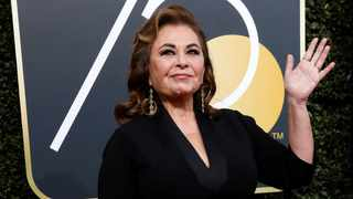 Actress Roseanne Barr waves on her arrival at the 75th Golden Globe Awards in Beverly Hills. Picture: Mario Anzuoni/Reuters