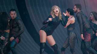 Singer Taylor Swift performs on stage in concert at Wembley Stadium in London, Friday, June 22, 2018. (Photo by Joel C Ryan/Invision/AP)