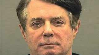 Booking photo of former Trump campaign manager Paul Manafort in Alexandria. Picture: Alexandria Sheriff's Office/Handout via