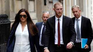 England cricket player Ben Stokes and his wife Clare Ratcliffe leave Bristol Crown Court, in Bristol. Photo: Peter Nicholls/Reuters