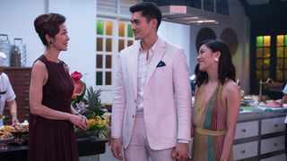 """This image released by Warner Bros. Entertainment shows Michelle Yeoh, from left, Henry Golding and Constance Wu in a scene from the film """"Crazy Rich Asians."""" Picture: AP"""