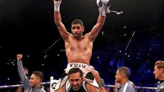 """At 32, Amir Khan admitted: """"I'm coming into the last chapter of my career."""" Photo: Nick Potts/PA via AP"""