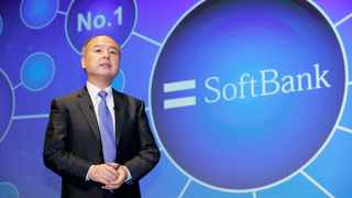 SoftBank Group Corp. Chief Executive Masayoshi Son speaks during a press conference in Tokyo Monday, Nov. 5, 2018. Son denounced the killing of Saudi journalist Jamal Khashoggi, but defended the Japanese technology giant's investment fund, which includes Saudi money, as work that needs to be finished. (Daiki Katagiri/Kyodo News via AP)