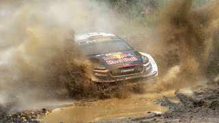 Ogier won his sixth straight World Rally Championship after a final day of racing at Rally Australia ended the hopes of his only two challengers for the season title. Picture: Bruce Thomas / Rally Australia via AP.
