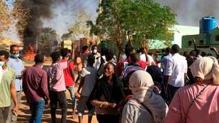 Anti-government protesters rally in Khartoum, Sudan, Sunday, Jan. 13, 2019. Hundreds of protesters are marching again in and around Sudan's capitol Khartoum, the fourth week of unrest that began over the rising price of bread and a failing economy but which now calls for the ouster of autocratic President Omar al-Bashir. (AP Photo)
