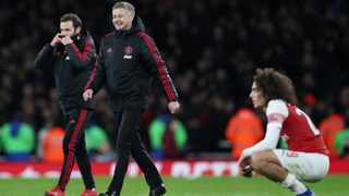 """""""The improvement I can see in many aspects, just from Tottenham to Arsenal – the way we improved the structure, the ideas, we've got to know each other more, and they've got to know me and what I want from the team,"""" said Ole Gunnar Solskjaer. Photo: Hannah McKay/Reuters"""