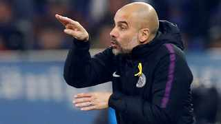 """""""I don't like to play in a short period of time against one team when you have beaten them,"""" said Manchester City manager Pep Guardiola. Photo: Wolfgang Rattay/Reuters"""