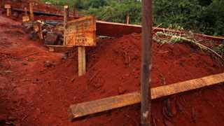 The graves of people killed during Cyclone Idai are seen in Chimanimani. Picture: Reuters/Philimon Bulawayo
