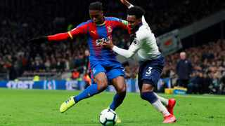 Crystal Palace defender Aaron Wan-Bissaka, seen here holding off Tottenham's Danny Rose, is set to be a top transfer target for Manchester United. Photo: Andrew Couldridge/Action Images via Reuters