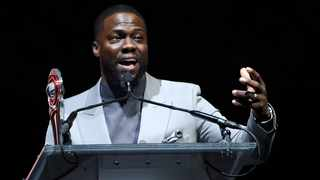 Kevin Hart accepts the International Star of the Year award during the Big Screen Achievement Awards at CinemaCon 2019 at Caesars Palace, Thursday, April 4, 2019, in Las Vegas. Picture: AP