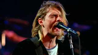 Kurt Cobain of the Seattle band Nirvana performing in Seattle, Wash. Picture: Robert Sorbo/The Seattle Times via AP, File