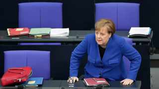 German Chancellor Angela Merkel said she would meet French President Emmanuel Macron to coordinate their stances on a Brexit delay. Picture: AP Photo/Michael Sohn