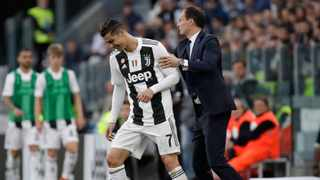 Massimiliano Allegri will not continue as Juventus coach next season after they were knocked out in the Champions League quarter-finals despite signing Cristiano Ronaldo. Photo: Luca Bruno/AP