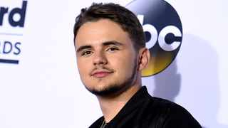 Prince Jackson poses in the press room at the Billboard Music Awards in Las Vegas. Picture: AP