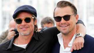 Brad Pitt and Leonardo DiCaprio at the 72nd Cannes Film Festival. Picture. Reuters