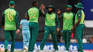 """Faf du Plessis said that Hashim Amla """"was a little bit all over the place"""" after being struck on the helmet by Jofra Archer. Photo: Action Images via Reuters"""