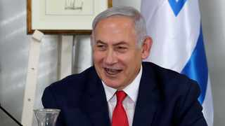 "Israeli PM Benjamin Netanyahu urged ""peace-loving countries"" to back the US in the crisis with Iran after Islamic Republic shot down a US spy drone. Picture: Reuters/Ammar Awad"