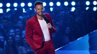 Host Zachary Levi speaks at the MTV Movie and TV Awards on Saturday, June 15, 2019, at the Barker Hangar in Santa Monica, Calif. Picture: AP