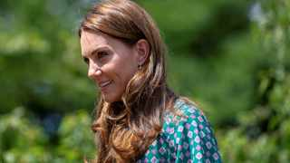Britain's Catherine, Duchess of Cambridge, visits her 'Back to Nature Garden' at Hampton Court Palace Garden Festival. Picture: Reuters