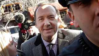 Kevin Spacey arrives at district court in Nantucket, Mass. Picture: AP Photo/Steven Senne