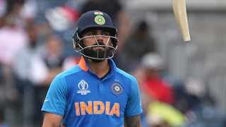 India's captain Virat Kohli is disappointed with the teams loss in the World Cup semi-finals. Photo: Aijaz Rahi/AP Photo