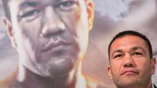 FILE - In this March 15, 2016, file photo, Bulgarian heavyweight boxer Kubrat Pulev attends a news conference in Hamburg, Germany. Photo: Christian Charisius/dpa
