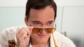 "American writer and film director Quentin Tarantino pose for photographers prior to the premiere of the movie ""Once Upon A Time in Hollywood"" in Moscow, Russia, Wednesday, Aug. 7, 2019. Picture: AP"