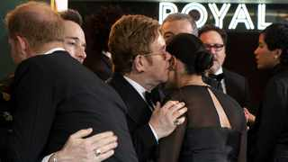 Elton John defended Harry and Meghan amid a furious row over their use of private jets. Picture: Reuters