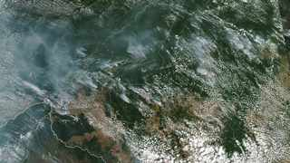 This satellite image provided by NASA on August 13, 2019 shows several fires burning in the Brazilian Amazon forest.  Picture: NASA via AP