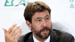 Italy's Andrea Agnelli, chairman of the European Club Association, ECA, speaks to the media. Photo: Salvatore Di Nolfi/Keystone via AP