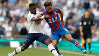 Tottenham's Serge Aurier, left, duels for the ball with Crystal Palace's Andros Townsend during their English Premier League match at White Hart Lane stadium in London in September. Photo: AP Photo/Alastair Grant