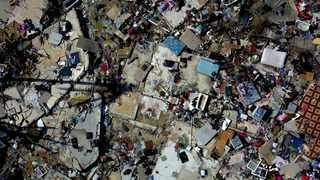 The rubble of a destroyed neighbourhood in the aftermath of Hurricane Dorian in Abaco, Bahamas, in September. Photo: AP Photo/Ramon Espinosa
