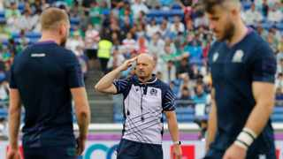 Scotland's coach Gregor Townsend their preparation for the game against Japan will continue as normal despite the threat of a typhoon. Photo: Eugene Hoshiko/AP Photo